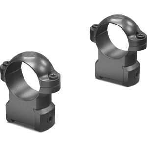 "Leupold RM CZ 550 Rimfire Mount Ring Combo 1"" Tube High Height Machined Steel Matte Black"