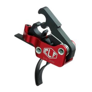 Elftmann Tactical AR-9 Match Trigger Curved Drop-In Adjustable Red/Black AR-9-C