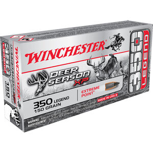 Winchester Deer Season XP 350 Legend Ammunition Extreme Point 150 Grain 2325 fps