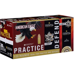 Federal Ammunition Practice/Defend 40 S&W Combo Pack 120 Rounds 180 Grain