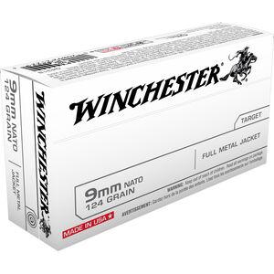 Winchester 9mm NATO 750 Round Case 124 Grain FMJ