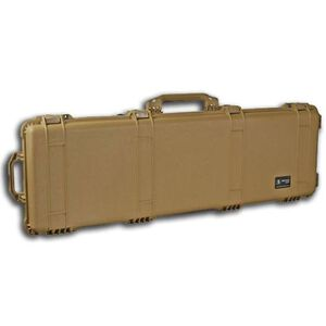 "Pelican 1750 Protector Wheeled Rifle Case 53"" Foam Interior Polymer Tan 1750-000-190"