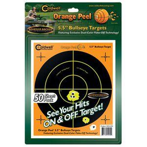 "Caldwell Orange Peel Adhesive Bullseye Targets 5.5"" 50-Pack 555050"