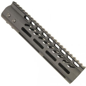 "Guntec AR-15 9"" Ultra Lightweight Thin M-LOK Free Floating Handguard with Monolithic Top Rail 7.9 oz Aluminum Black"