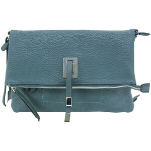 """Cameleon Aya Clutch/Crossbody Handbag with Concealed Carry Gun Compartment 13""""x8""""x3"""" Synthetic Leather Turquoise"""