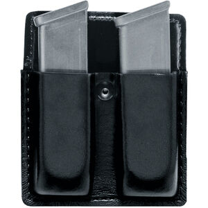 Safariland 75 Open Top Double Magazine Pouch Fits GLOCK 17/19 SafariLaminate Plain Black