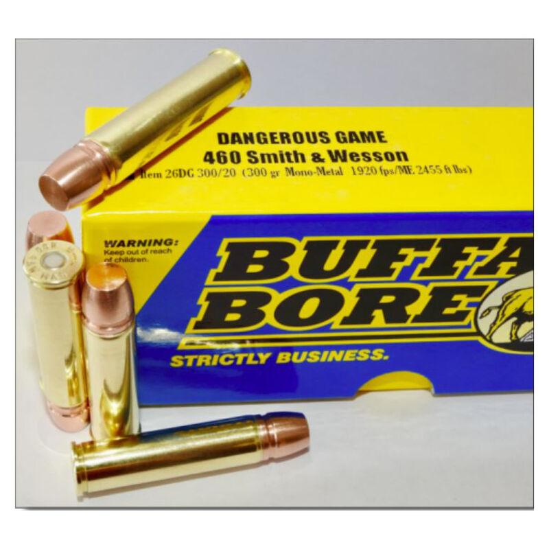 Buffalo Bore Dangerous Game .460 S&W Magnum Ammunition 20 Rounds Mono-Metal FN Lead Free 300 Grain 26DG 300/20