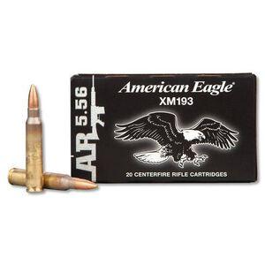 Federal American Eagle XM193 5.56 NATO 55 Grain FMJ BT 20 Round Box