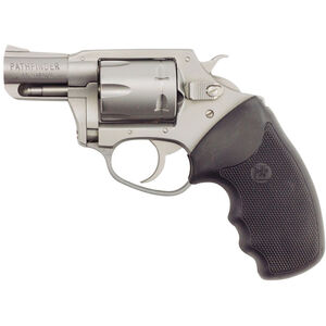 """Charter Arms Pathfinder Revolver .22 Magnum 2"""" Barrel 6 Rounds Rubber Grips Stainless Steel Finish"""
