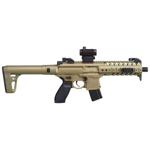 Sig Sauer MPX ASP Air Rifle CO2 575 fps Red Dot Sight .177 Caliber FDE