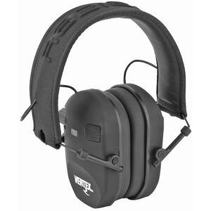 Radians Vertex Slim Dual Microphone Electronic Muff Black NRR 22
