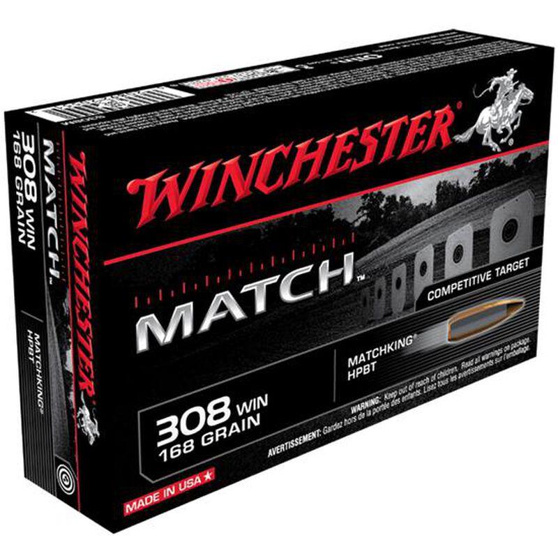 Winchester Match .308 Winchester Ammunition 168 Grain Sierra MatchKing HPBT 2680 fps