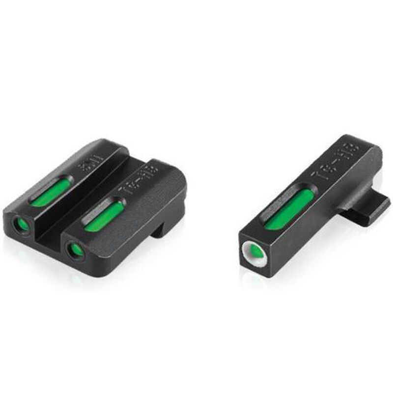 TRUGLO TFX Walther PPS M2 Front and Rear Tritium Sights Standard Height Steel Black