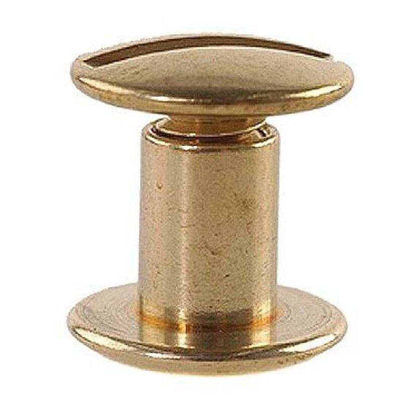 Uncle Mike's Brass Chicago Screws for Slings and Straps 24 Pack
