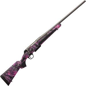 "Winchester XPR Muddy Girl Compact .300 WSM Bolt Action Rifle 3 rounds 22"" Barrel Synthetic Stock Muddy Girl Camo Permacote Gray"