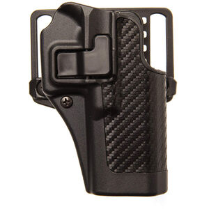 BLACKHAWK! CQC SERPA Belt Holster, Ruger SR-9, Black Carbon Fiber, Right Hand