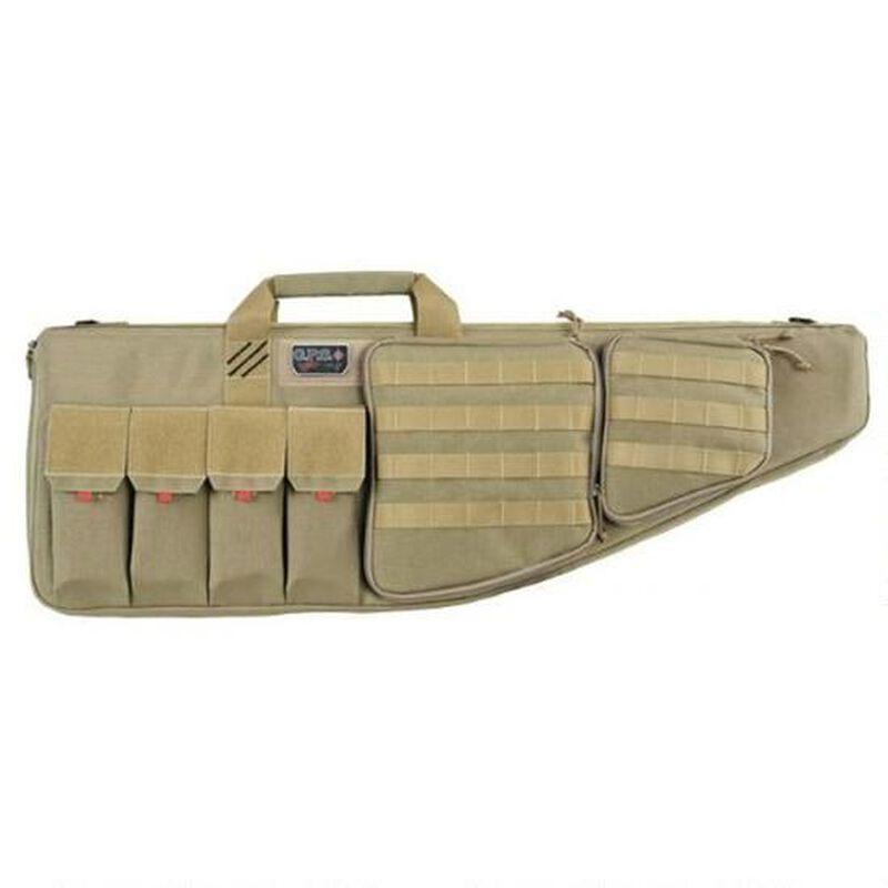 "G-Outdoors G.P.S. Tactical Rifle Case 42"" With External Handgun Case 1000 Denier Heavy Duty Material DuPoint Teflon Coated Tan Finish"