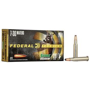 Federal Premium Sierra GameKing 7-30 Waters Ammunition 20 Rounds 120 Grain Sierra GameKing Boat Tail Soft Point 2700fps