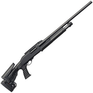 "Charles Daly 300 Pump Action Rifled Slug 12 Gauge Shotgun 24"" Barrel 3"" Chamber 5 Rounds Cantilever Optic Rail Adjustable Stock Black"