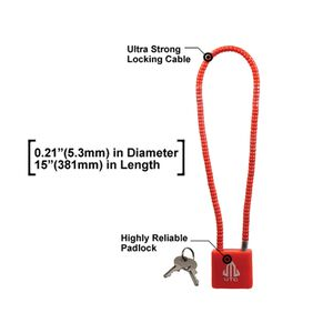 "UTG Firearm Cable Lock F5.3mmX15"", California DOJ Approved"