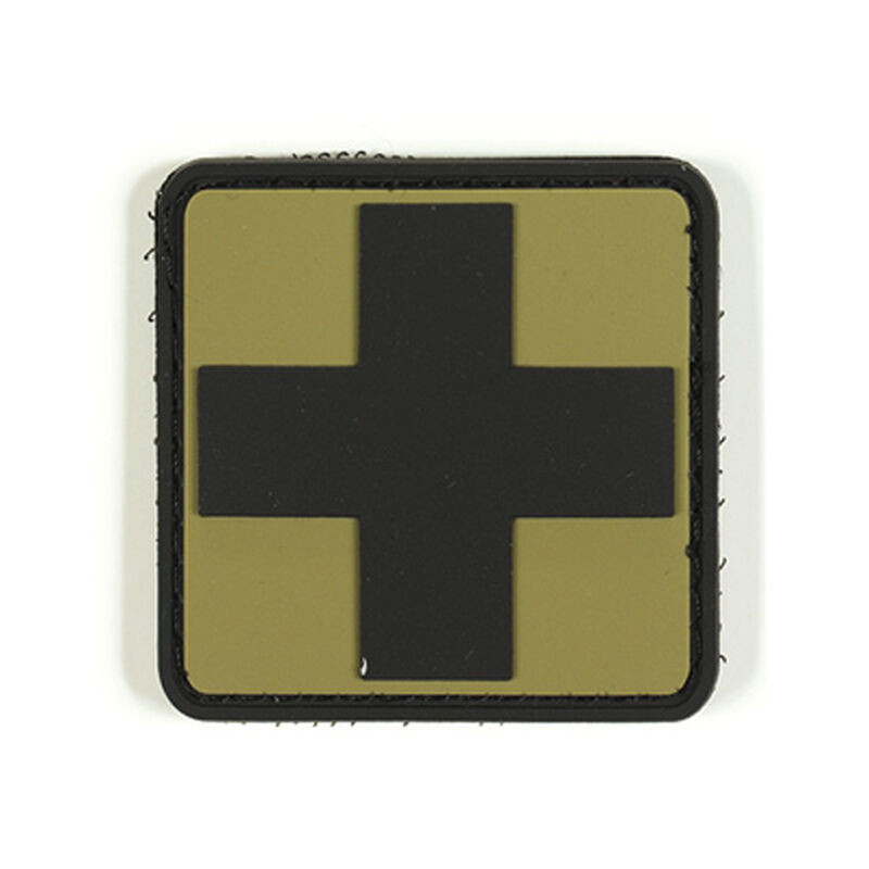 Voodoo Tactical 3D First Aid Symbol Patch TPR Rubber Coyote