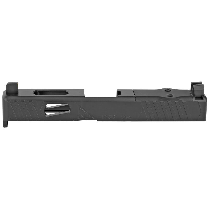 Rival Arms Slide for GLOCK 19 Gen 3 Frames MOS/DOC Optic Cut/Night Sights CNC Machined 17-4PH Stainless Steel Billet Matte Black Finish