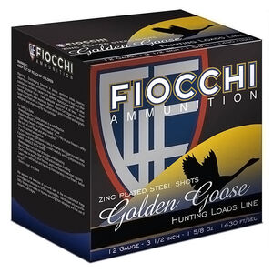 "Fiocchi EXTREMA Golden Goose 12 Gauge Ammunition 3-1/2"" #1 1-5/8oz Steel Shot 1430fps"