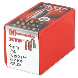 """Hornady 9mm Caliber .355"""" Diameter 90 Grain XTP Hollow Point Bullet 100 Count 35500"""