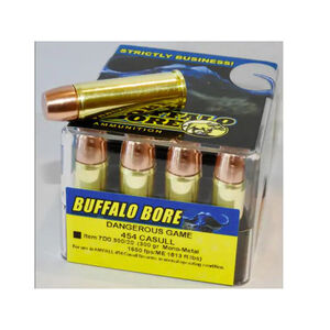 Buffalo Bore Dangerous Game .454 Casull Ammunition 20 Rounds Mono-Metal Lead Free 300 Grain 7DG 300/20