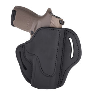 1791 Gunleather Open Top Multi-Fit 2.4S OWB Belt Holster for Full Size Large Frame Semi Auto Models Right Hand Draw Leather Black