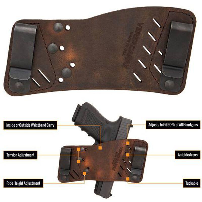 VersaCarry Rapid Slide S3 IWB/OWB Tuckable Holster Multi Fit Ambidextrous Leather Brown 42311