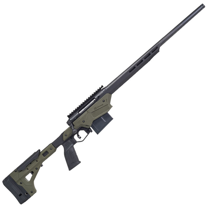 """Savage Firearms Axis II Precision .243 Winchester Bolt Action Rifle 22"""" Barrel 10 Rounds Magazine MDT Chassis OD Green/Black"""