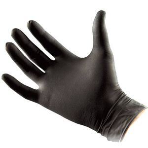 North American Rescue Black Talon Nitrile Medical Gloves Medium Tactical Black 50 Pairs 70-0002