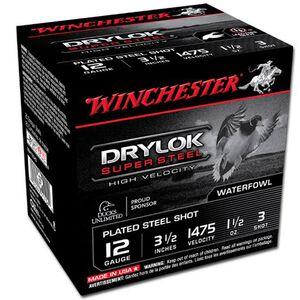 "Winchester Drylok 12 Ga 3.5"" #3 Steel 1.5oz 250 Rounds"
