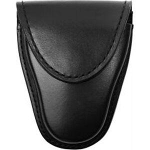 Gould & Goodrich Gold Line Handcuff Case Standard Hinge Handcuffs Leather Black Weave B141W