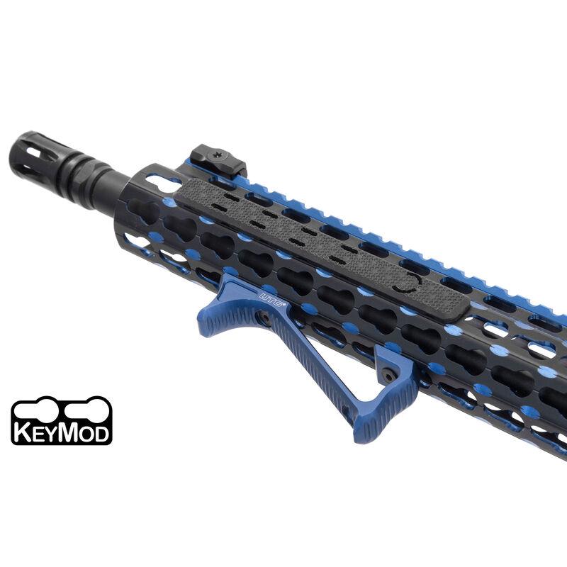 UTG Ultra Slim Angled Keymod Foregrip, Matte Blue
