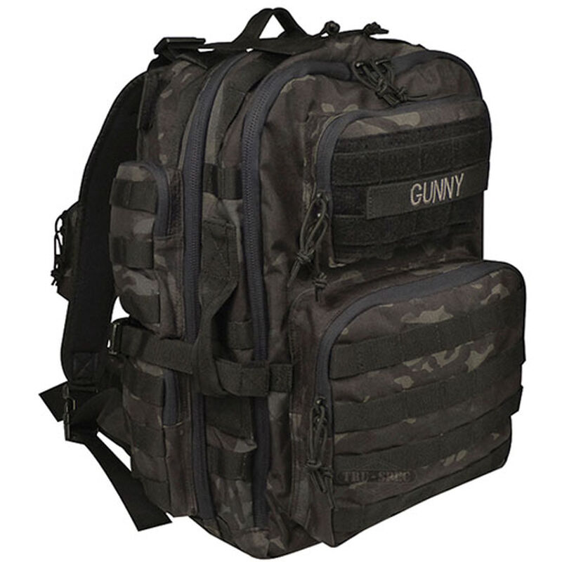 "Tru-Spec Gunny Series Tour of Duty Backpack 18""x10""x10"" Ballistic Pack Cloth Black Camo 4803000"