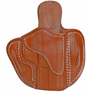 1791 Gunleather Optic Ready Open Top Multi-Fit 2.1 OWB Belt Holster for Sub Compact/Compact/Full Size Semi Auto Models Right Hand Draw Leather Classic Brown
