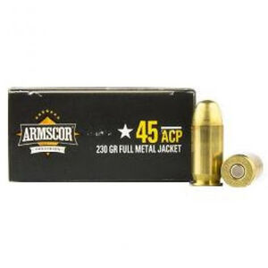 Armscor USA .45 ACP Ammunition 20 Rounds JHP 230 Grains AC45A-10N