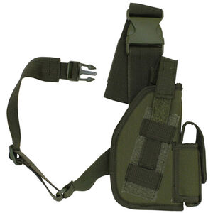"Fox Outdoor SAS Tactical Leg Holster 4"" Right Hand Nylon Olive Drab Green 58-00"