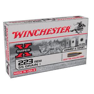 Winchester Super-X .223 Rem Ammunition BTHP 55 Grains BTHP 3165 fps 20 Rounds
