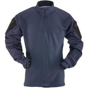 TruSpec TRU Long Sleeve 1/4 Zip Combat Shirt Medium Regular Navy