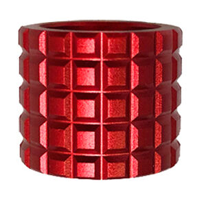 Backup Tactical .223 Remington 1/2x28 Thread Protector Frag Aluminum Red
