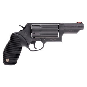 """Taurus Judge Magnum Double Action Revolver .45 Long Colt/.410 Bore 3"""" Chamber 3"""" Barrel 5 Round Fixed Red Fiber Optic Front Sight/Fixed Rear Sight Ribbed Rubber Grip Matte Black Finish"""