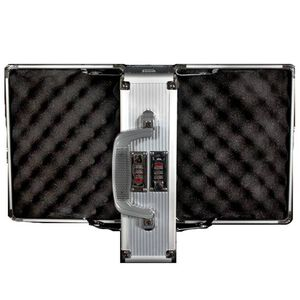 Silver Bullet/2nd Amendment Double Sided 4 Handgun Case ABS Plastic Silver AL15
