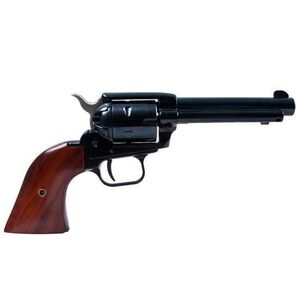 """Heritage Manufacturing Rough Rider SAA Single Action Revolver .22 LR/.22WMR Combo 4.75"""" Barrel 6 Rounds Aluminum Alloy Frame Fixed Sights Blued Cocobolo Wood Grips Blued RR22MB4"""