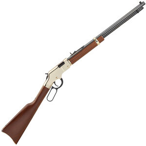 "Henry Repeating Arms Golden Boy Model H004V Lever Action Rimfire Rifle .17 HMR 20"" Barrel 11 Rounds American Walnut Stock Golden Finish"