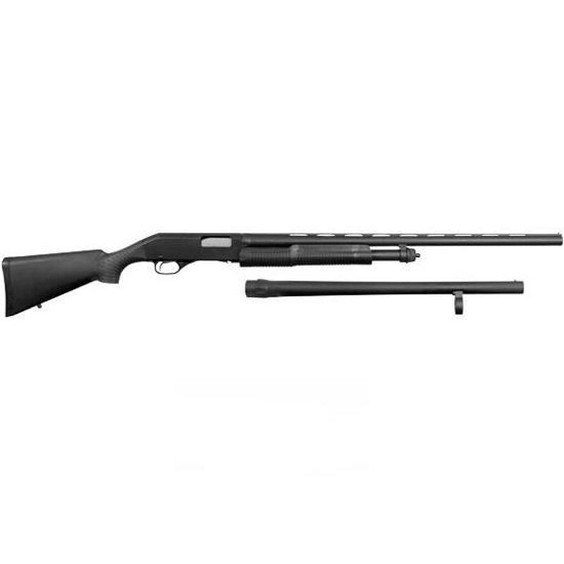"""Stevens 320 Field and Security Combo Pump Action Shotgun 12 Gauge 28"""" and 18.5"""" Barrels 3"""" Chamber 5 Rounds Bead Sight Synthetic Stock Matte Black Finish 19490"""