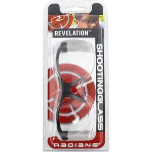 Radians Revelation Shooting Glasses Ballistic Rated Safety Eye Protection Clear Lens/Black Frame