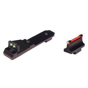 TRUGLO Marlin 336 and Henry Golden Boy .22 Mag Lever Action Rifle Fiber Optic Sight Set Contrasting Colors TG114